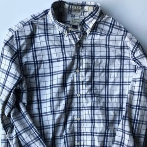 Classic Jcrew Button Down Blue and White Shirt